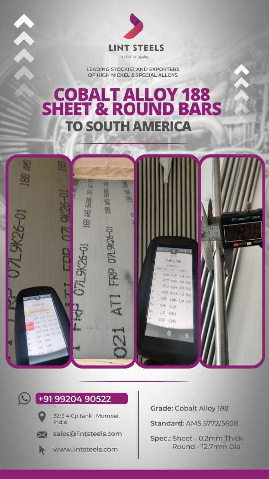 Haynes 188 Round Bars